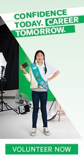 Confidence Today. Career Tomorrow. Volunteer Now